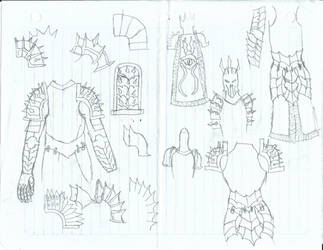 Sauron armor sketch 1 by KingOfCopper16