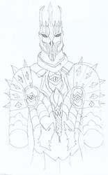 Sauron armor sketch 4 by KingOfCopper16