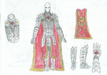 Sauron armor sketch 5 by KingOfCopper16