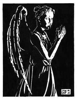 Inktober 2019 Day 4: Weeping Angel