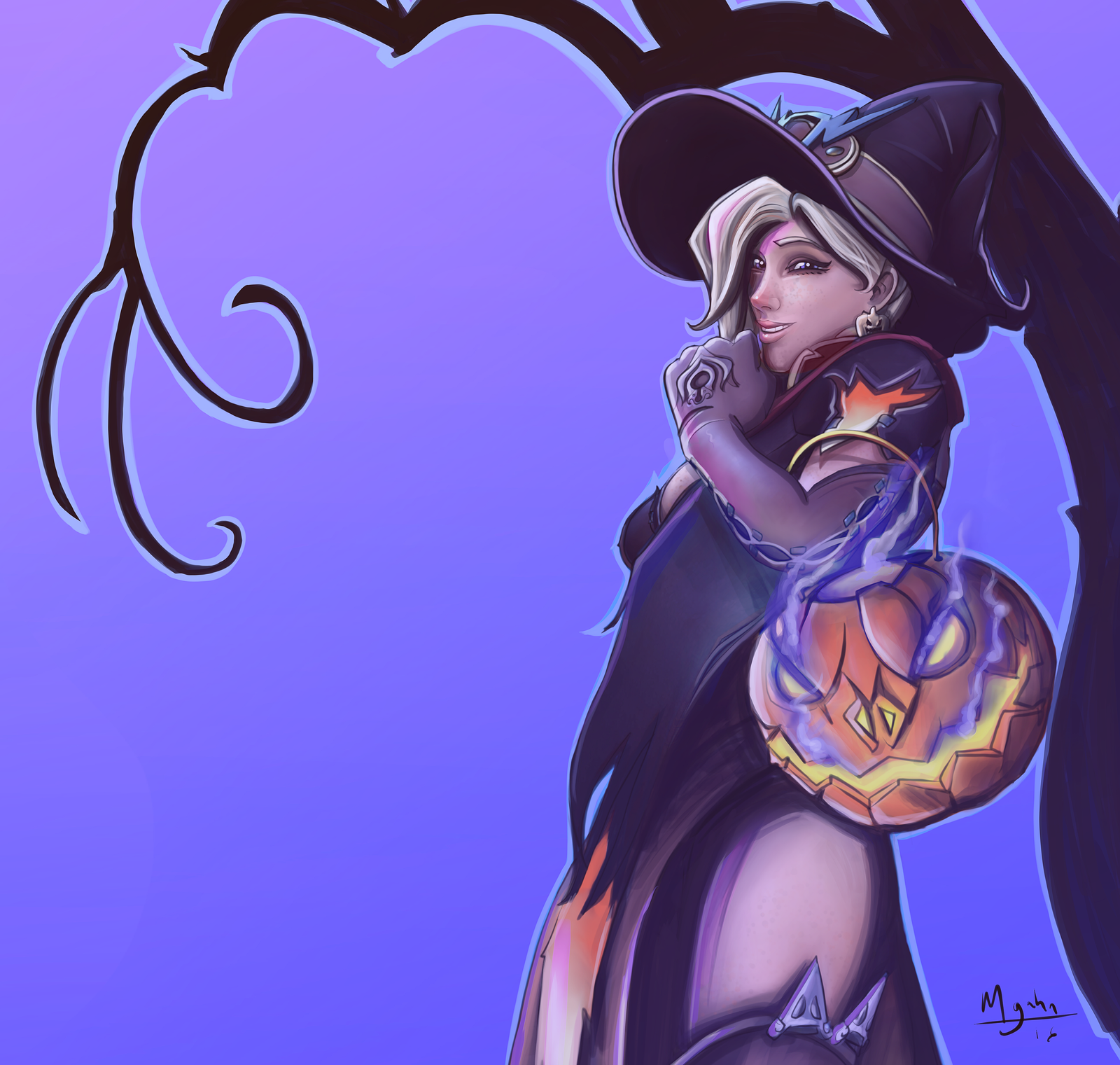 Mercy, Halloween Outfit by mgahn on DeviantArt
