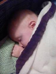 sleepy baby by Beautifuldante89
