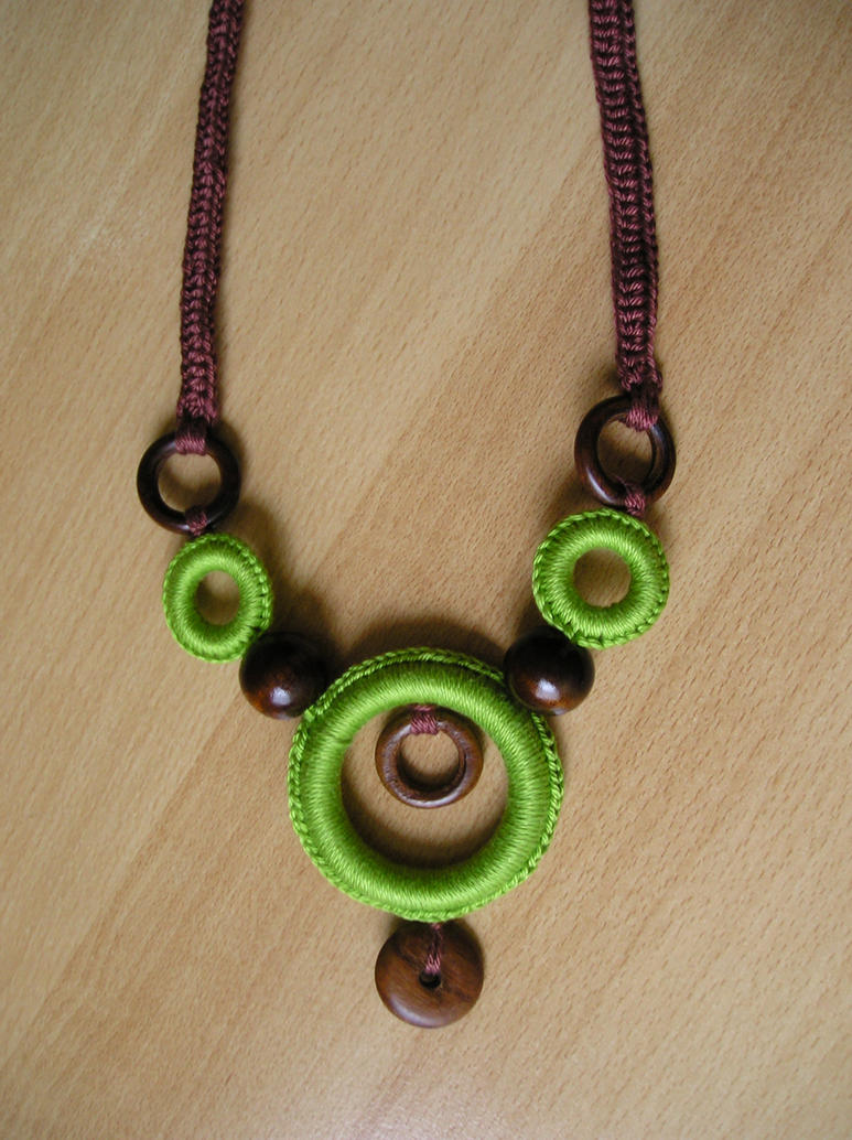 Crocheting Necklaces : crochet necklace 16 by aquachild on DeviantArt