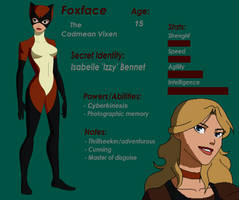 Young Justice OC: Foxface by WickedCurlyFeather