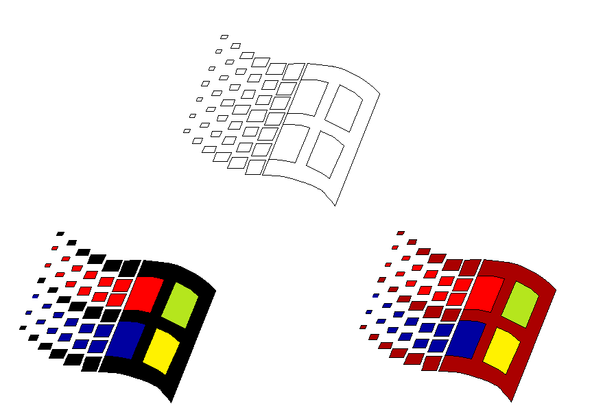 how to draw windows logo