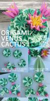 Venus kusudama cactus part 3.