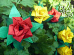 origami around the garden