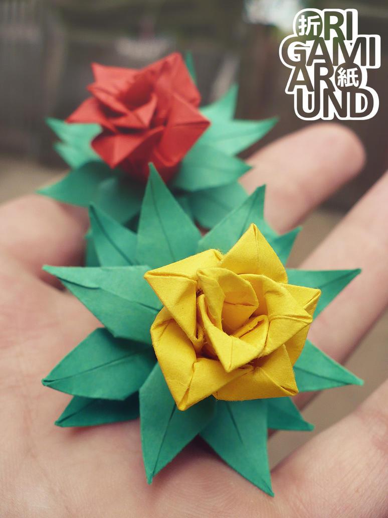 Tiny Origami Flowers By Origamiaround On Deviantart