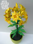 Origami lily plant (finished) 001
