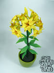 Origami lily plant