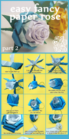 Easy Fancy Paper Rose Part 2. by OrigamiAround