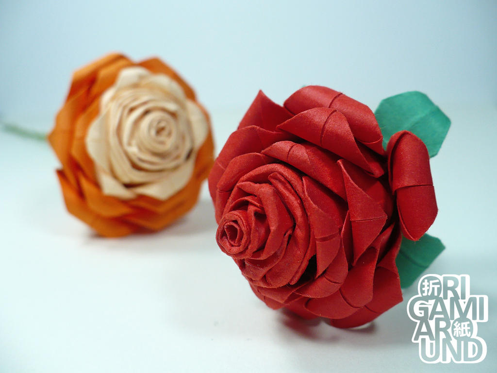A Bunch Of Paper Roses 003 By Origamiaround On Deviantart