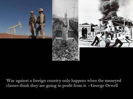 Orwell on War by Skargill
