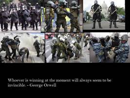 Orwell on Struggle by Skargill