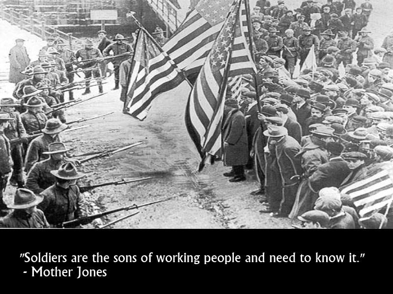 Mother Jones on Soldiers by Skargill