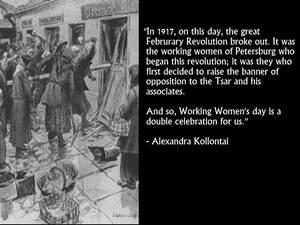 Alexandra Kollontai on Women's Day