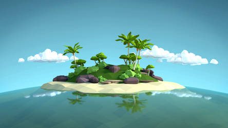 Lowpoly Tropical Island