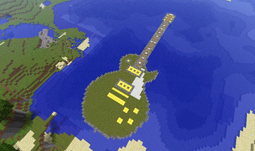 minecraft guitar island by drphill2010 on deviantart