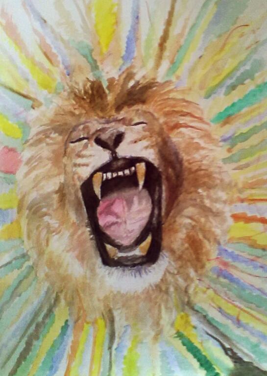 Funky lion roar