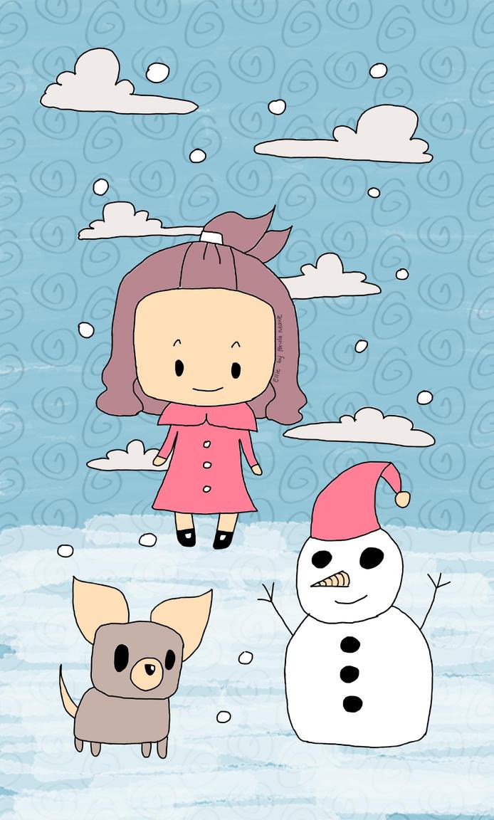 Ellie Snowman by PauPixArts