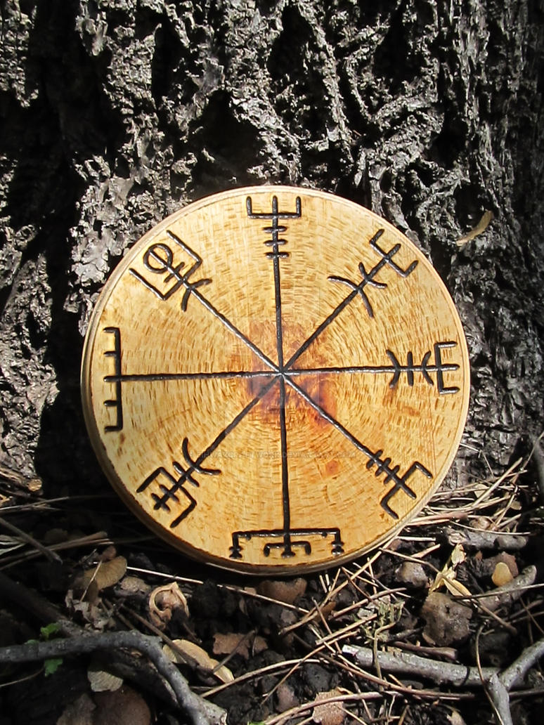 Custom Vegvisir Woodburning by EihwazCraftwork