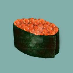 Ikura Salmon egg Sushi