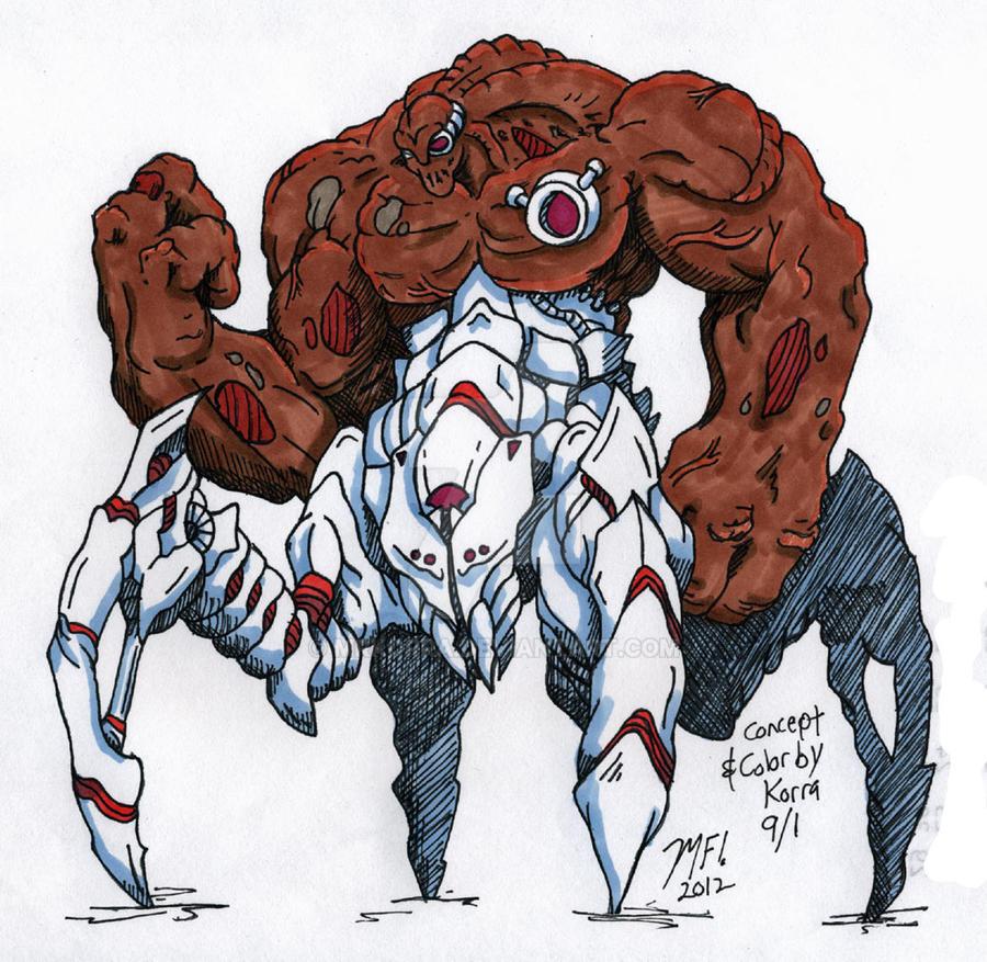 Exterminus! my OC! for Kaiju Combat by MrKorra