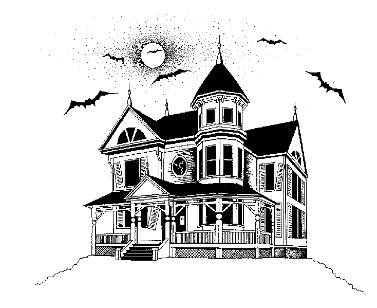 Line Art House : Haunted house by silvermoonlight on deviantart