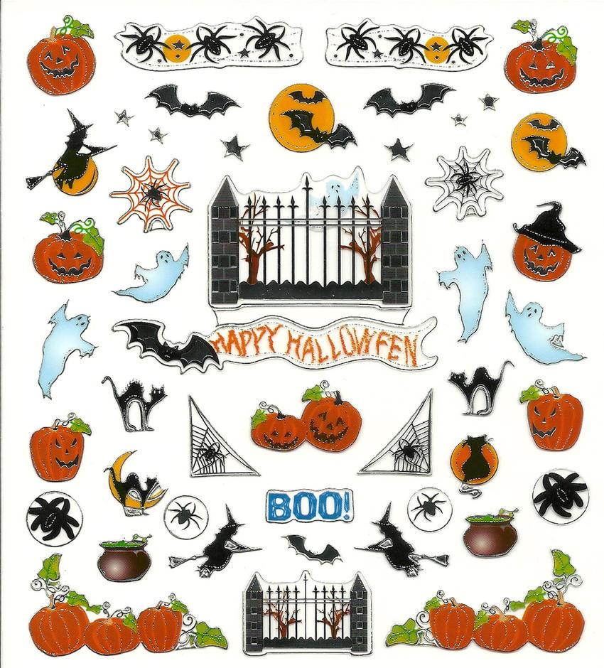 Halloween Stickers by Silvermoonlight217 ...