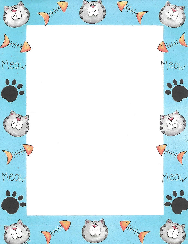 cat page border by silvermoonlight217 on deviantart christmas cat clip art black and white christmas cat clipart black and white