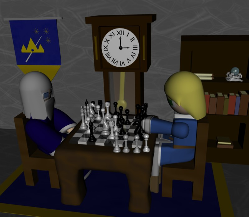 The Chess Game by SiverCat