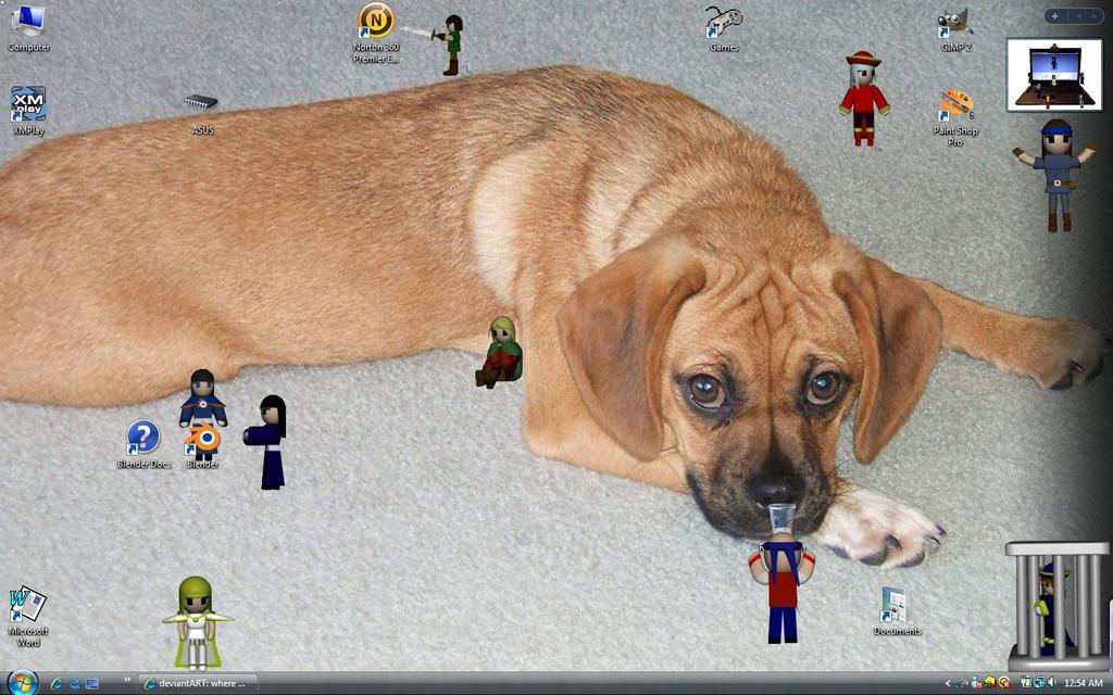 Desktop Invasion by SiverCat