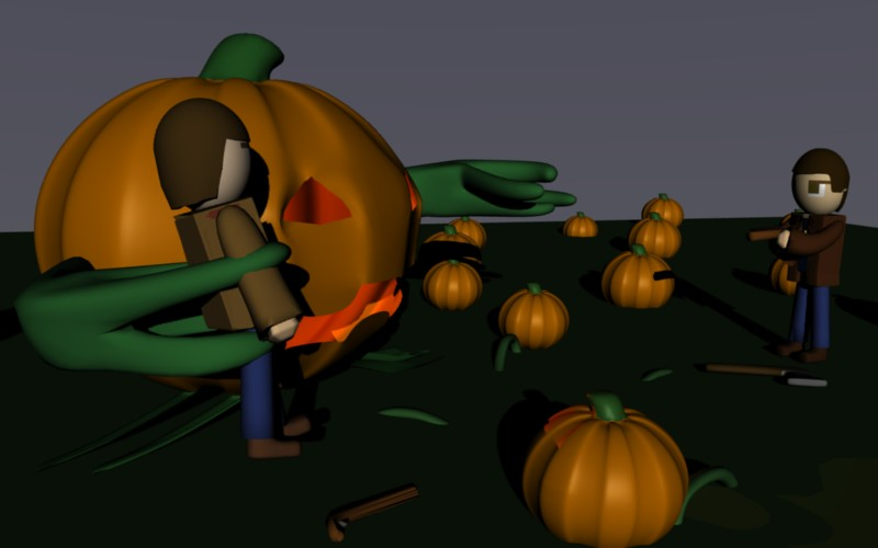 The Great Pumkin Sam and Dean by SiverCat
