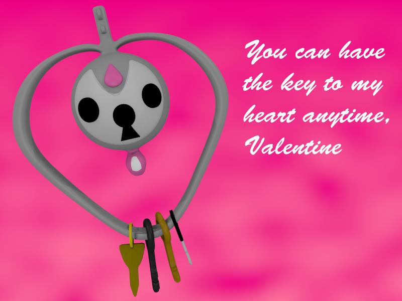 Klefki Valentine by SiverCat