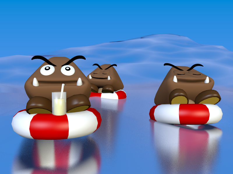 A Goomba's Vacation by SiverCat