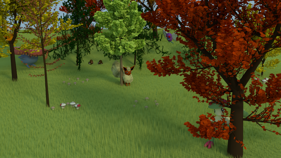 Autumn Pokemon by SiverCat