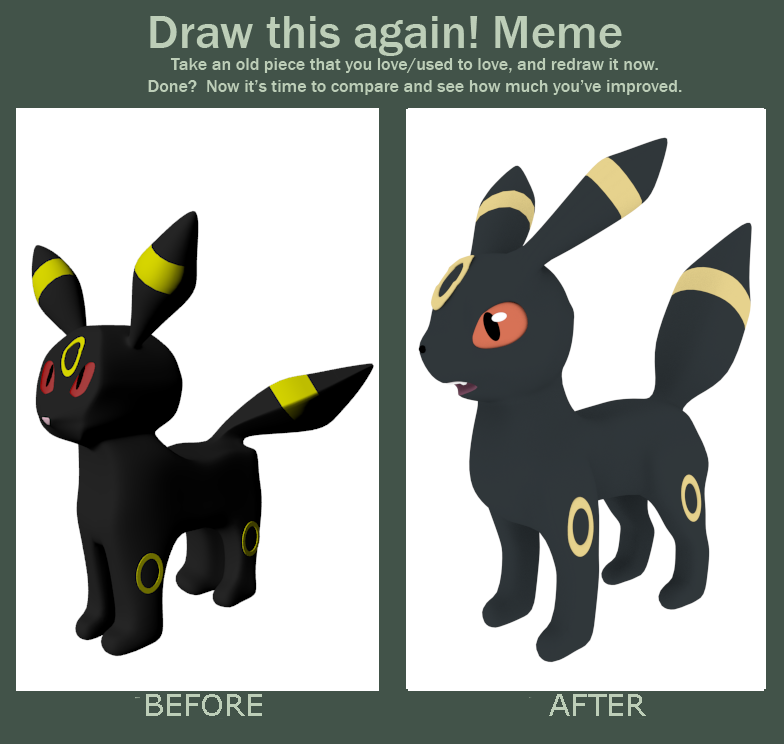 Before And After Umbreon by SiverCat