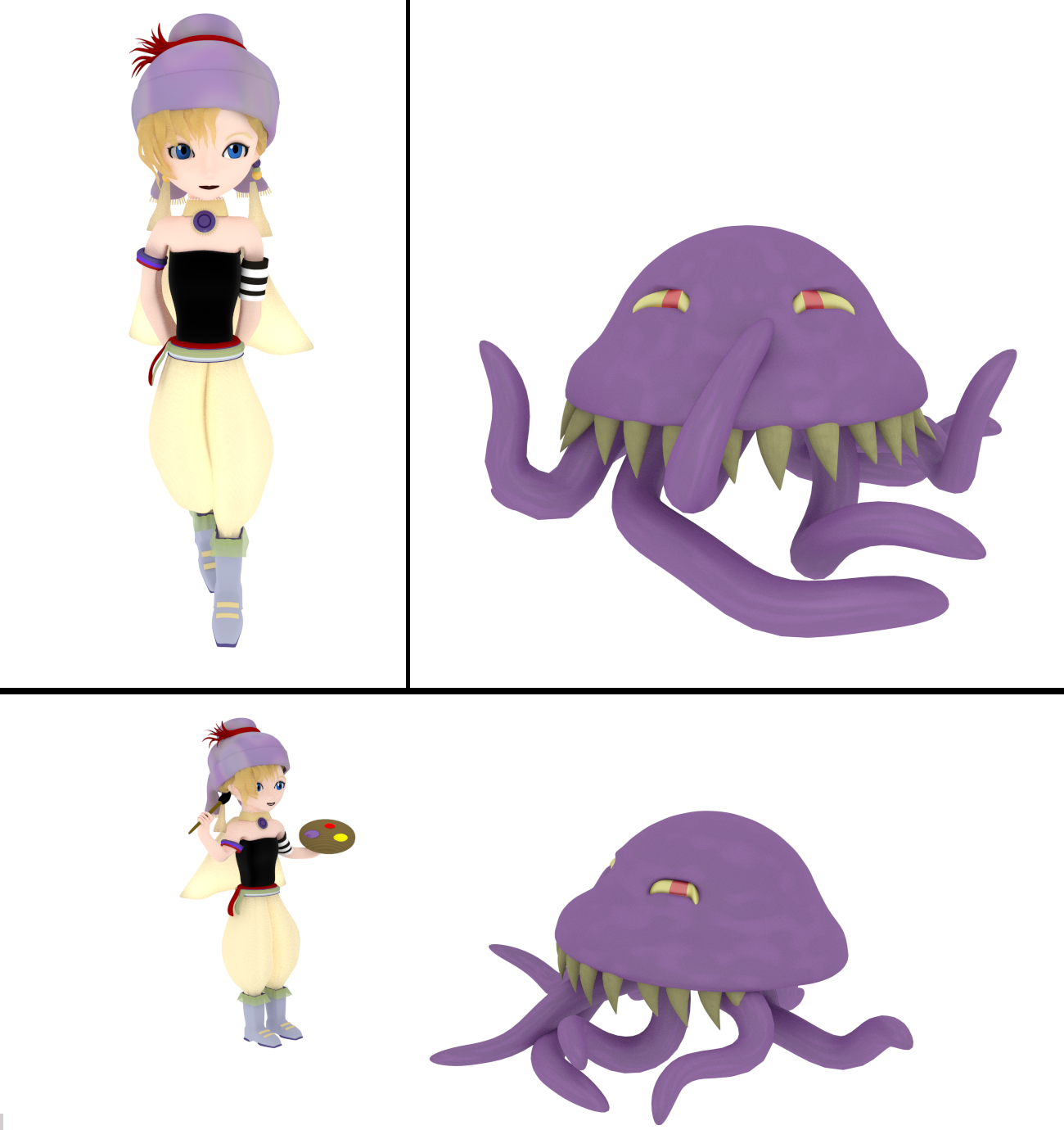 Relm and Ultros by SiverCat