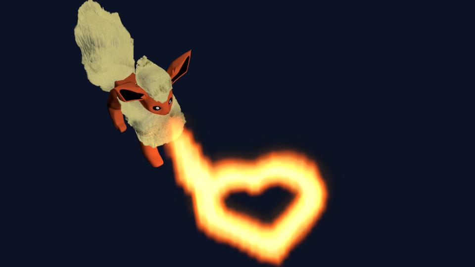 Flareon Valentine by SiverCat
