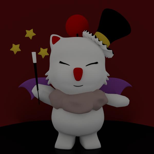 Moogle Magician by SiverCat