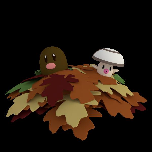 Leaf Fun by SiverCat