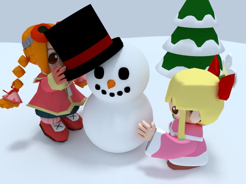 Building a Snowman by SiverCat