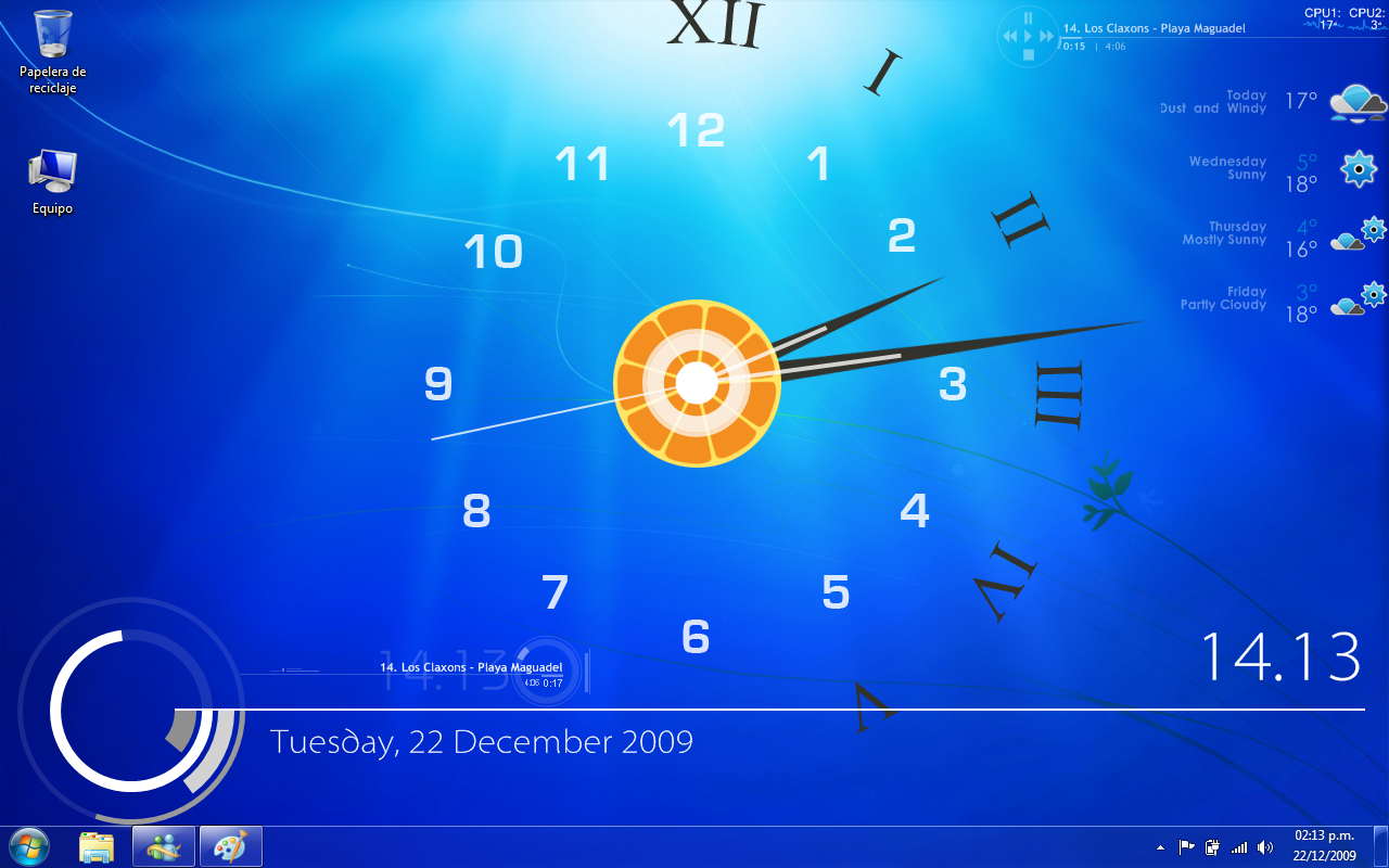Windows 7 rainmeter by anonikat on deviantart for Bureau windows 7 rainmeter