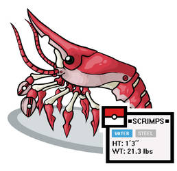 Fakemon - Scrimps by Xebeckle-il-Ziluf