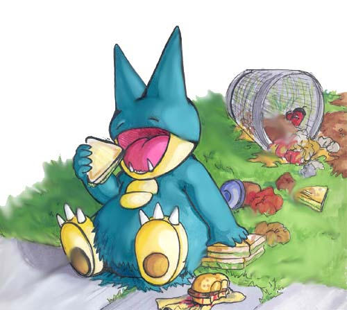 Munchlax by Xebeckle-il-Ziluf on DeviantArt  Munchlax Eating