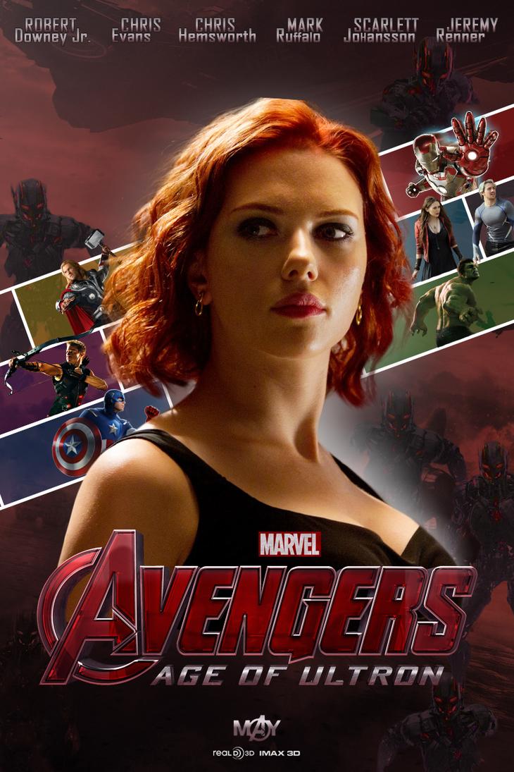 Avengers Age of Ultron Black Widow Fan-Made Poster by ...