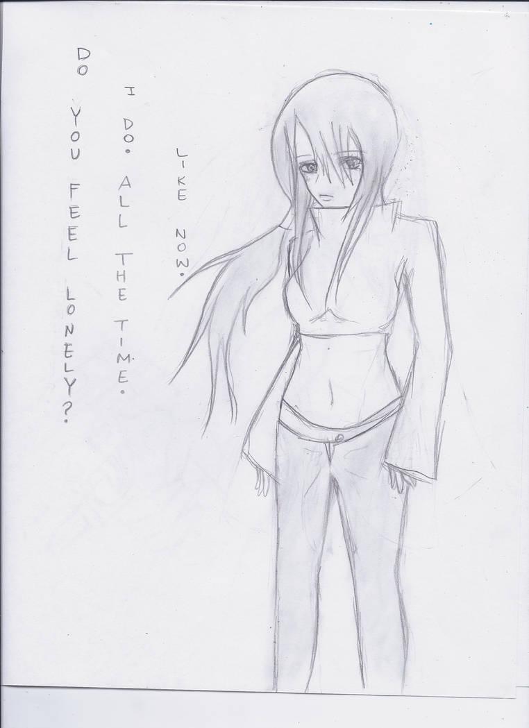 Do you ever feel lonely yuki pencil sketch by grachiel