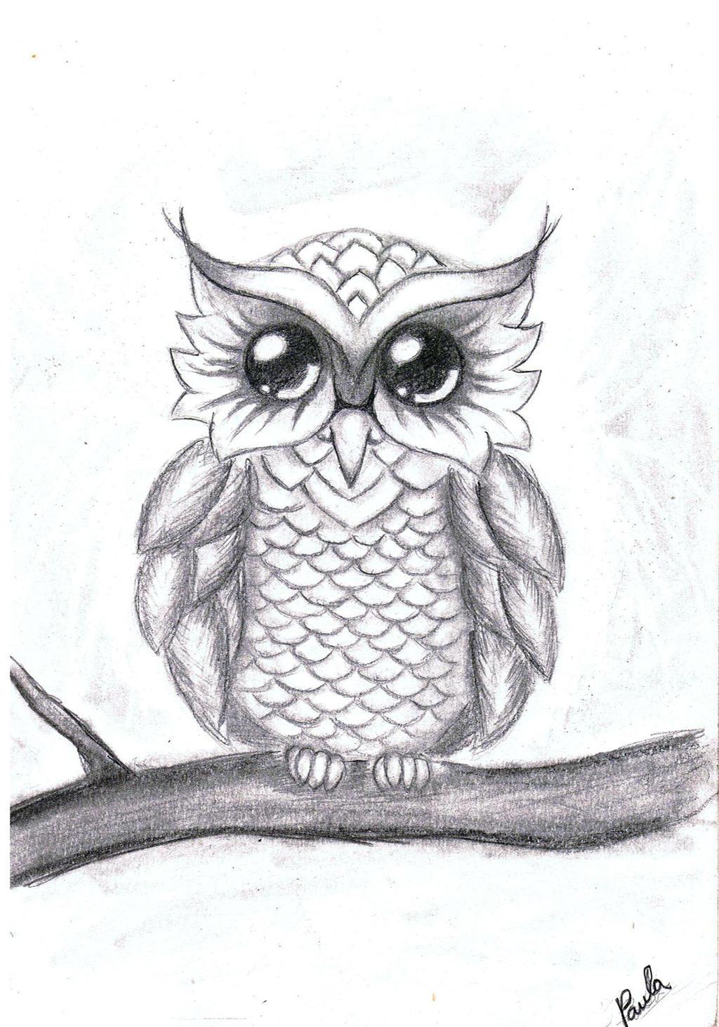 My little owl by paula leimane on deviantart for Small art drawings