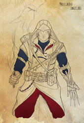 Assassin's Creed style Concept Art-WIP by Junk-Ren