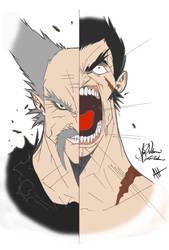Heihachi Vs. Kazuya by God-of-Fighting